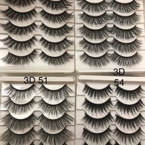 3D 5pair ( all 4 pack )mink real lashes all 4 pack